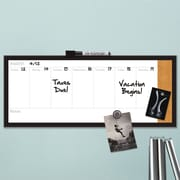 Quartet® Magnetic Weekly Organizer Combo Board, Dry-Erase & Cork