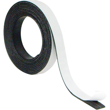 Mastervision Magnetic Adhesive Tape Roll 1/2x 7' Black