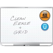 Quartet® Prestige® 2 Total Erase® Magnetic Whiteboard, 4' x 3', Silver Aluminum Frame (TEM544A)