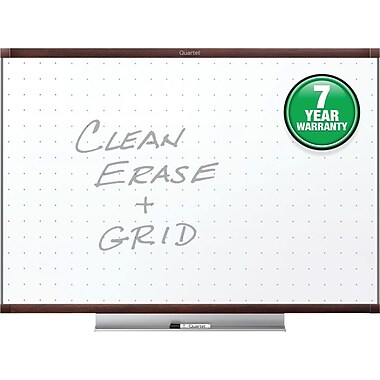 Quartet® Prestige® 2 Total Erase® Whiteboard, 6' x 4', Mahogany Finish Frame (TE547MP2)