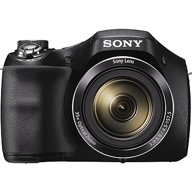 Sony® Cyber-shot DSCH300B Digital Camera, 20.1MP, 35x Optical Zoom, 720 HD Video, 3
