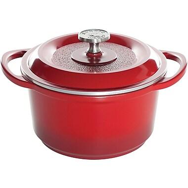 Nordicware® Pro Cast Traditions™ 3qt Round Dutch Oven, Red
