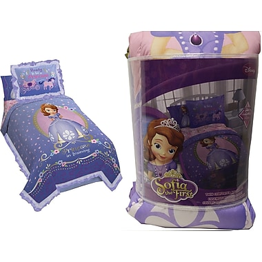Disney Princess Sofia Twin Comforter and Sham Set, Made for twin beds, Purple