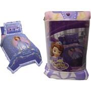 Disney – Couvre-lit et couvre-oreiller Princesse Sofia, conçus pour les lits jumeaux, violet
