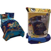 Disney Jake and the Neverland Pirates Twin Comforter and Sham Set, Made for twin beds, Blue