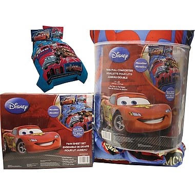 Disney/Pixar Cars Espionage Bed in a Bag, Made for twin beds, Blue,Red