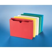 "Staples® Reinforced Jackets, 2"" Expansion, Letter, Assorted Colors, 10/PK (3043DT10ASST-S)"