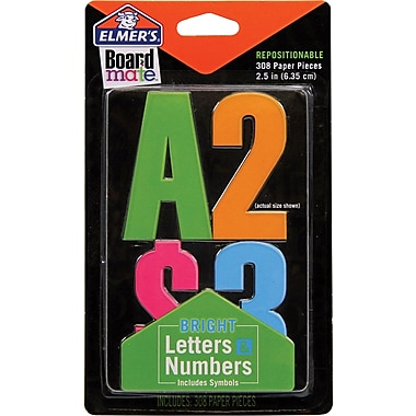 Project Poppers Paper Letters and Numbers 18pk
