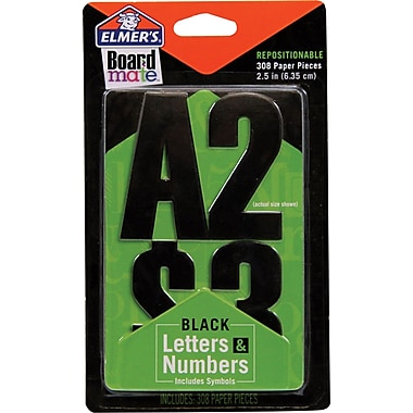 Project Poppers Paper Letters & #s - Black 18pk