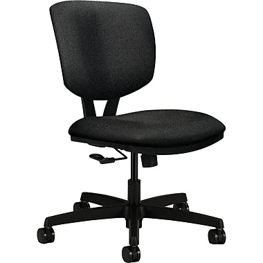 basyx by HON Volt Fabric Computer and Desk Office Chair, Armless, Iron (HON5721HBK19T)