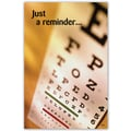 Custom Postcard Optometry Reminder Eye Chart
