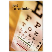 Custom Postcard Optometry Reminder Eye Chart