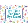 Custom Postcard Optometry Scatter Print It's Time for Your Exam