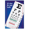 Custom Postcard Optometry Eye Chart in.It's Time For Your Examin.