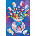 Custom Postcards Dental Toothbrush Vase