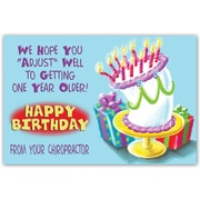 Custom Postcards Chiropractic Cartoon Cake with Presents