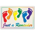 Custom Postcards Podiatrist Colored Feet