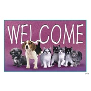 Custom Postcards Veterinary Welcome, Pets in a Line