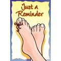 Custom Postcards Podiatrist Just a Reminder