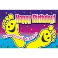 Custom Postcards Podiatrist Smiling Happy Feet
