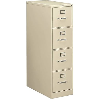 HON 210 Series Vertical File Cabinet, Letter, 4-Drawer, Putty, 28 1/2in.D