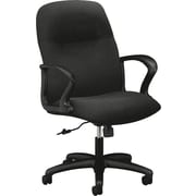 "HON Gamut Managerial/Midback Chair, Fabric, Black, Seat: 20 1/4""W x 16.63""D, Back: 23/4""W x 25 1/4""H"