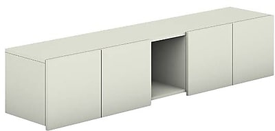HON Voi Overhead Cabinet 4 Doors with 12 W Cubbie 72 W Silver Mesh Finish