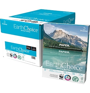Domtar EarthChoice® Office Paper, 8 1/2' x 11', Case