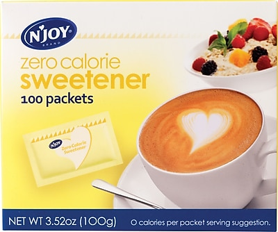 N Joy Yellow Sucralose Zero Calorie Sweetener Packets 1g 100 Bx