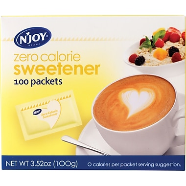 N'Joy® Yellow - Sucralose Zero Calorie Sweetener Packets, 1g, 100/Bx