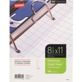 Staples® Reinforced Filler Paper, Graph Ruled, 4x4, 8-1/2in. x 11in.