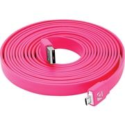Aduro Flat Cord Sync & Charge Micro USB Cable for SmartPhones & Tablets Pink