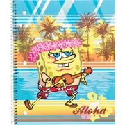 Staples® Nickelodeon 1-Subject Notebook, Wide Rule, SpongeBob, 8 x 10-1/2