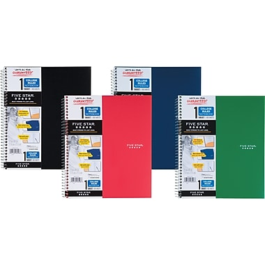 Mead® Five Star® Wirebound Notebook, 1-Subject, College Rulged, 8-1/2in. x 11in.
