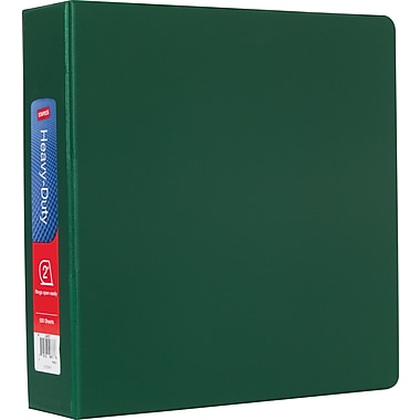 Staples Heavy-Duty 2-Inch D-Ring Nonview Binder, Black (24657-US)
