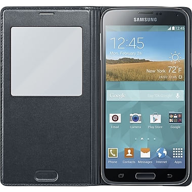 Samsung Galaxy S5 Flip Wallet, Black
