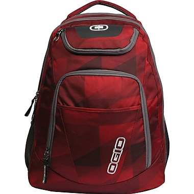 OGIO® Tribune Backpack For 17in. Laptops, Envelop Red