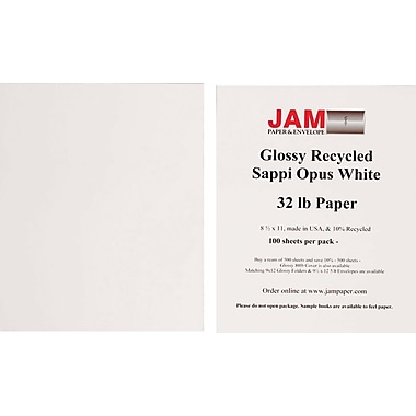 Jam Paper® Glossy Paper, 8-1/2