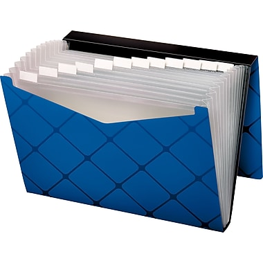 Globe-Weis 13 Pocket Expanding File, Letter, Blue