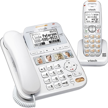 Vtech SN6147 CareLine Corded/Cordless Answering System with Extra Large Buttons and Display