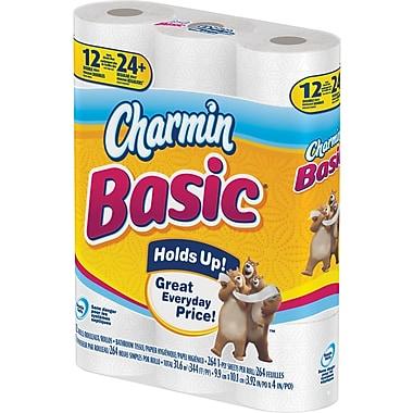 Charmin® – Papier hygiénique de base à 1 épaisseur, paq./12 rouleaux