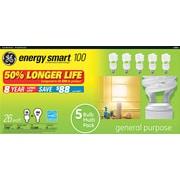 Compact Fluorescent Bulb, 26 Watt, T3 Spiral, Soft White, 5/Pk