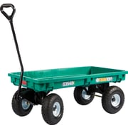 "Farm Tuff Polypropylene 20"" X 38"" Deck Wagon Green"