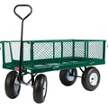 Farm Tuff 24in. x 48in. Metal Deck with Wagon Fold Down Sides Green