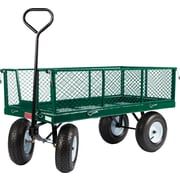 "Farm Tuff 24"" x 48"" Metal Deck with Wagon Fold Down Sides Green"