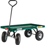 "Farm Tuff 20"" x 38"" Metal Deck Wagon Green"
