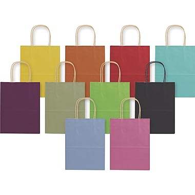 Bags & Bows® Varnish Stripe Shoppers, 8-1/4