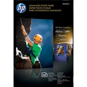 "HP Advanced Borderless Photo Paper, 4""x6"", Glossy, 100/Pack"