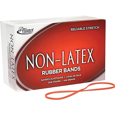 "Alliance Orange Non-Latex Rubber Bands , #33 (3 1/2"" x 1/8""), 1 lb. Box"