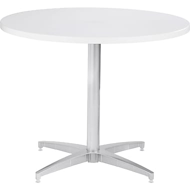 42in. Round OfficeWorks Table Top, White - Square